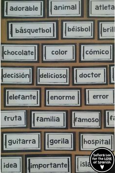 How to Learn Spanish by Getting the Most Out of Classes Spanish Lessons For Kids, Spanish Teaching Resources, Spanish Lesson Plans, Spanish Activities, Teacher Resources, Spanish Games, Teaching Ideas, Spanish Cognates, Spanish Vocabulary