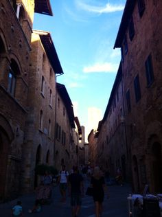 Walking, San Gimignano, Italy