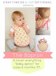 51 Things to Sew for Baby - Baby Apron Tutorial - Cool Gifts For Baby, Easy Things To Sew And Sell, Quick Things To Sew For Baby, Easy Baby Sewing Projects For Beginners, Baby Items To Sew And Sell http://diyjoy.com/sewing-projects-for-baby