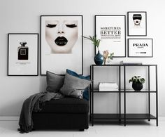 Poster Prada Marfa sign in black and white. Gossip Girl Fashion Poster and Plaka . - Poster Prada Marfa sign in black and white. Gossip girl fashion poster and placard - Living Room Decor, Bedroom Decor, Wall Decor, Wall Art, Mid Century Modern Living Room, My New Room, Interior Inspiration, Prada Marfa, Interior Design