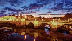 Ponte Romana At Dusk - Tavira, Portugal Print by Barry O Carroll Popular Photography, Nature Photography, Like A Local, Dusk, Travel Photos, The Good Place, Travel Inspiration, Portugal, Instagram Images