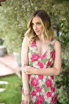 Fuschia Florals. A cocktail dress that's summer wedding-approved.