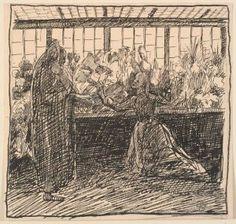 Hans Christian Andersen – Historien om en Moder, ilustración de Fritz Syberg (1898)