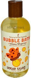 Little Twig Tangerine Bubble Bath 8.5oz by Little Twig. $12.43. Bubble Bath Tangerine by Little Twig 8.5 oz Liquid Bubble Bath Tangerine 8.5 oz Liquid Whats more fun than a tub full of fruity flowery bubbles little twig bubble bath has a lively citrus-rosemary scent thats sure to please both parent and baby plus an organic formula of Vitamin E Shea Butter and Aloe Vera to soothe and soften skin. BENEFITS ORGANIC INGREDIENTS PHTHALATE FREE PEDIATRICIAN TESTED PARABEN FREE S...