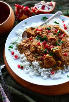 This chicken stew has a unique flavor, with pomegranate syrup, chicken, and walnuts poured over and eaten with rice.