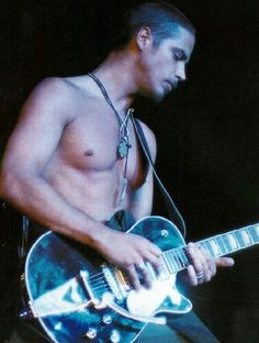 Young Chris Cornell on guitar