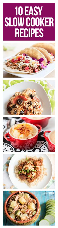 Slow and steady wins the taste with these healthy, easy slow cooker meals.