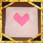 折り紙でハート窓の折り方!簡単バレンタインメッセージの作り方 | セツの折り紙処 Origami, Projects To Try, Paper Crafts, Cards, Manualidades, Envelope, Tissue Paper Crafts, Paper Craft Work, Origami Paper