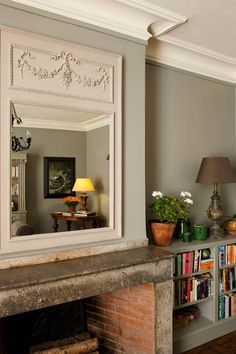 lovely framed mirror..
