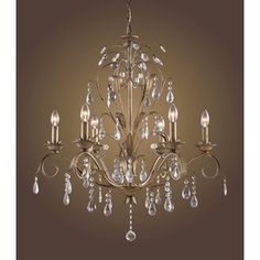 Westmore Lighting Angelite 6-Light Weathered Silver Chandelier.  Lowes.  $400
