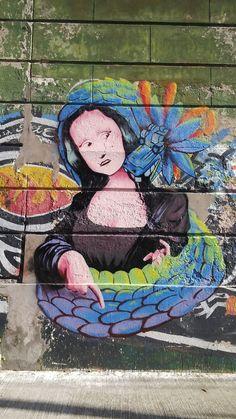 Dama y Dragón. La Boca. Buenos Aires. Argentina  #paredesquehablan #imagen