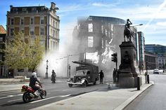 vintage everyday: Fascinating Then and Now Photographs Show Just How Different of London During the Blitz and Today