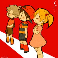 Lloyd, Ninten, and Ana