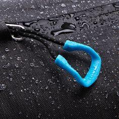 Zipper, water proof, fabric, blue