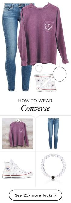 """""""Want this shirt!!~ how's the new setup?"""" by meljordrum on Polyvore featuring Converse, Paige Denim and Everest"""