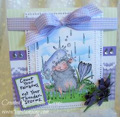 House-Mouse & Friends Monday Challenge: Rain or Shine for House-Mouse Challenge House Mouse Stamps, Copics, Cute Cards, Card Templates, Cardmaking, Rain, Challenges, Design Inspiration, Rubber Stamping