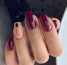 Essie Nail Colors, Pretty Nail Colors, Pretty Nails, Valentine's Day Nail Designs, Acrylic Nail Designs, Acrylic Nails, Heart Nail Art, Heart Nails, Cute Nail Art