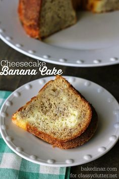 Cheesecake Banana Cake