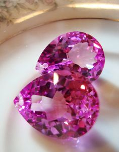 Hot Pink Topaz.My auntie Lana bought me these when she went to Japan. I stil kept them in my drawer.