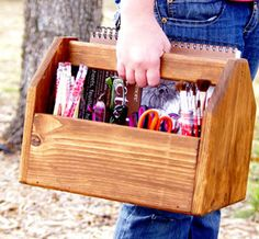 Wood Art Caddy by Cold Creek Brewing >> This could be great in so many areas of my home!