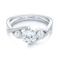 Custom Three Stone Diamond Engagement Ring   Joseph Jewelry   Bellevue   Seattle   Online   Design Your Own Engagement Ring