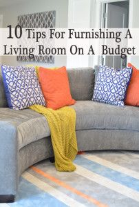10 Tips for furnishing a living room on a budget