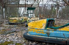 Visiting the Chernobyl Amusement Park, which was scheduled to open five days after the nuclear accident.