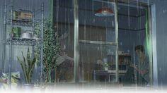 The Garden of Words / 言の葉の庭 Aesthetic Japan, Aesthetic Gif, Rain And Coffee, Amaama To Inazuma, Rain Gif, Nijiiro Days, The Garden Of Words, Anime Scenery, Cute Illustration