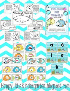 This adorable science, literacy, and math unit provides endless activities to teach your students about the ocean. Includes 2 printable books. Fishing for Phonics Game!