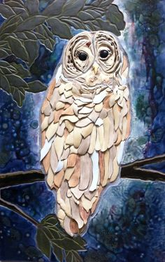 Spirit Owl mosaic a powerful tile mosaic by ARTofAuspiciousness, $5400.00
