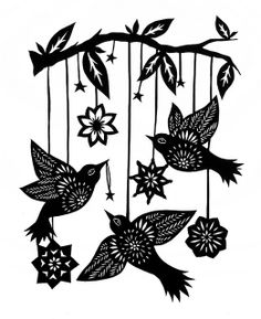 Angie Pickman's Bird Mobile Paper Cutting