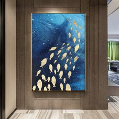 Framee wall art Abstract Gold fish acrylic ocean Sea Painting on canvas Navy blue painting extra Large Wall art Pictures cuadros abstractos Diy Wall Painting, Blue Painting, Acrylic Painting Canvas, Abstract Canvas, Painting Abstract, Blue Canvas, Acrylic Art, Textured Canvas Art, Diy Canvas Art
