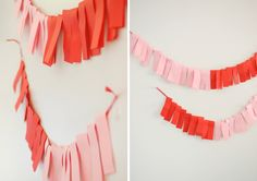 DIY Wednesday: Easy Colorblock Garland - Project Wedding Blog