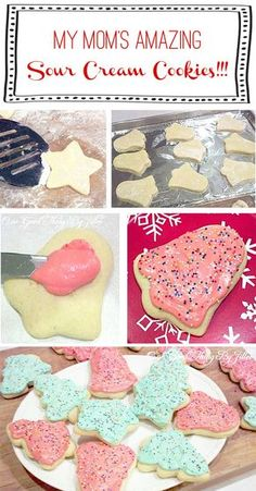 My mom's amazing Sour Cream Cookies! Every year, my friends and family go crazy over these big, fluffy sugar cookies. Perfect for gift-giving!