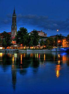 Blaue Stunde, #Landshut #Bayern, #Bavaria