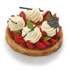Tarte coco-fraise - Pâtisseries - Boutique en ligne - Vincent Guerlais