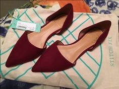 DV8 Abbey D'Orsay Flats in Burgundy from Stitch Fix. https://www.stitchfix.com/referral/4292370
