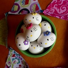 Hello kitty eggs!! Thought up & created by ?
