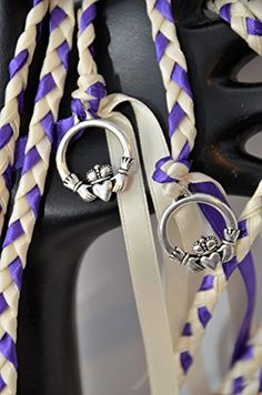 Regal Purple Celtic Claddagh Wedding Hand Fasting/ Binding Cord ~ Ivory…