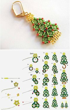 Learn how to bead weave a Christmas tree