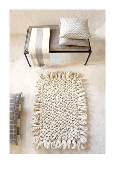 P A L O M I T A handloomed wool bouclé rug in C R E by mexchic