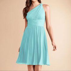 "Donna Morgan """"Rhea"""" One Strap Bridesmaid Dress"