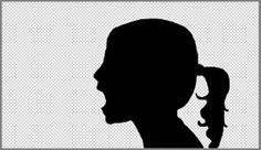 I love silhouette art and whenever we get the chance with an artist I take it. It is an amazing art form and those who can cut a silhouette with. Love Silhouette, Silhouette Portrait, Side Portrait, Photoshop Elements, Photoshop Ideas, Diy Artwork, Good Tutorials, Art Projects, Project Ideas