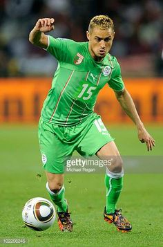 Karim Ziani of Algeria in action during the 2010 FIFA World Cup South Africa Group C match between England and Algeria at Green Point Stadium on June...
