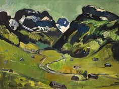 Schwendenal with Alpstein by Carl Walter Liner Paintings, Art, Auction, Idea Paint, Stones, Art Background, Paint, Painting Art, Kunst