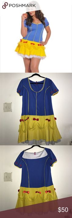 Plus size Snow White costume Gently used there is a stain on the inside lace of the dress but you can't see it when you wear it otherwise from that it is in good condition torrid Dresses Mini