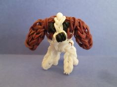 Rainbow Loom Cavalier King Charles Spaniel Dog or Puppy Charm. 3-D