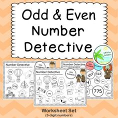 Odd and Even number worksheets numbers) by Sand and Sunsets 100 Number Chart, Number Worksheets, Cut And Paste, Color Activities, Teacher Pay Teachers, Teacher Newsletter, Maths, Sunsets, Numbers