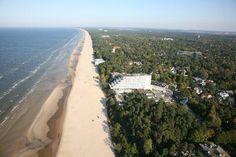 Jurmala, Latvia. Imponerende strandkyst