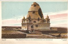 The Tomb of the Mahdi after bombardment from British gunboats during the battle of Omdurman 1898.